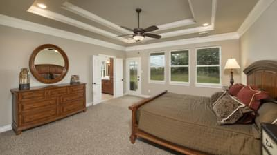 Master Bedroom - Fredericksburg Model in Katy Design Center Tilson Custom Home Photo