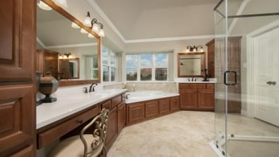 Master Bathroom - Fredericksburg Model in Katy Design Center Tilson Custom Home Photo