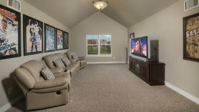 Optional Upstairs Theater Room - Fredericksburg Model in Katy Design Center Tilson Custom Home Photo