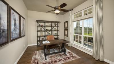 Study - Fredericksburg Model in Katy Design Center Tilson Custom Home Photo