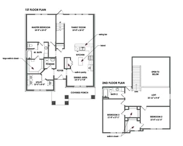 Floorplan - The Goliad Tilson Custom Home Photo