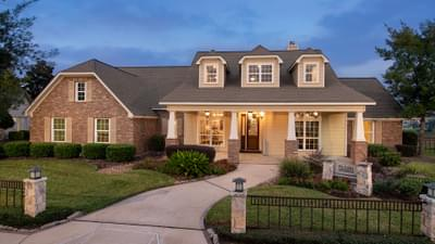 Elevation C - Fredericksburg Model in Katy Design Center Tilson Custom Home Photo