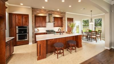 Kitchen - Fredericksburg Model in Katy Design Center Tilson Custom Home Photo