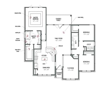 Floorplan - The Guadalupe Tilson Custom Home Photo