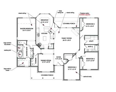 Floorplan - The Hidalgo Tilson Custom Home Photo