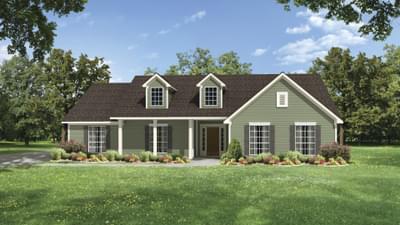 Elevation C - The Jacksonville Tilson Custom Home Photo