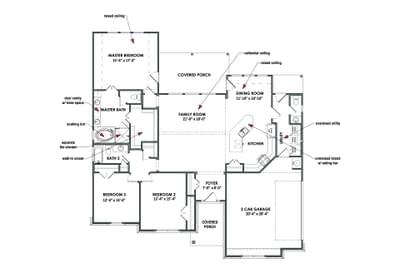 Floorplan - The Jacksonville Tilson Custom Home Photo
