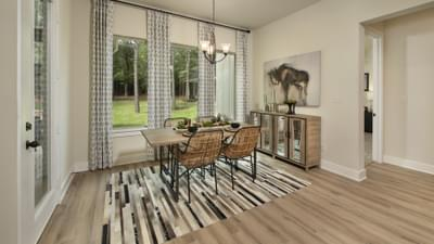 Breakfast Room - La Salle Model in Huntsville Design Center Tilson Custom Home Photo