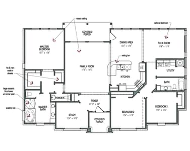 Floorplan - The Magnolia B Tilson Custom Home Photo