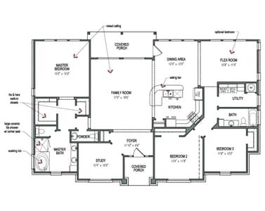 Floorplan - The Magnolia B Tilson Custom Home Photo