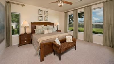 Master Bedroom - The Magnolia Model in Katy Design Center Tilson Custom Home Photo