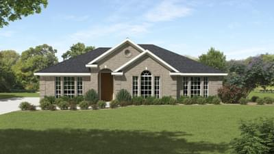 Elevation B - The Bridgeport Tilson Custom Home Photo