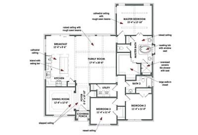Floorplan - The Bridgeport Tilson Custom Home Photo