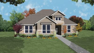 Elevation D - The Crockett Tilson Custom Home Photo