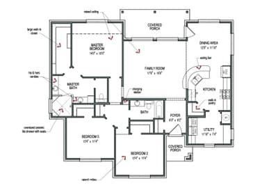 Floorplan - The Crockett Tilson Custom Home Photo