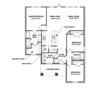 Floorplan - The Floresville Tilson Custom Home Photo