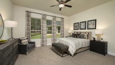 Bedroom 4 - La Salle Model in Huntsville Design Center Tilson Custom Home Photo