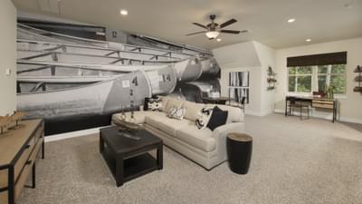 Optional Upstairs Bonus Room - La Salle Model in Huntsville Design Center Tilson Custom Home Photo