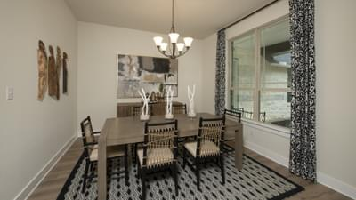 Dining Room - La Salle Model in Huntsville Design Center Tilson Custom Home Photo