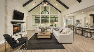 Family Room with Optional Fireplace - La Salle Model in Huntsville Design Center Tilson Custom Home Photo