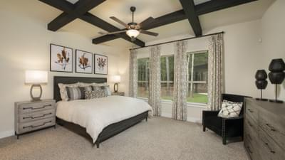 The La Salle Master Bedroom Texas Custom Home Photo