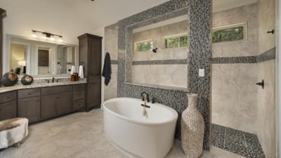 Alternate Master Bathroom - La Salle Model in Huntsville Design Center Tilson Custom Home Photo