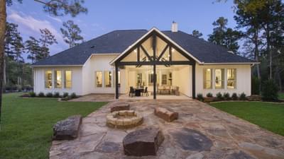 Rear Covered Porch - La Salle Model in Huntsville Design Center Tilson Custom Home Photo