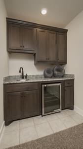 Optional Upstairs Wet Bar - La Salle Model in Huntsville Design Center Tilson Custom Home Photo
