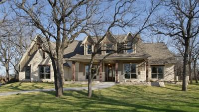 Elevation C - Breckenridge Model in Weatherford Tilson Custom Home Photo