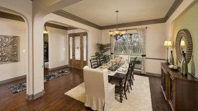 Dining Room - Breckenridge Model in Weatherford Tilson Custom Home Photo