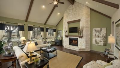Family Room with Optional Fireplace - Breckenridge Model in Weatherford Tilson Custom Home Photo