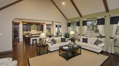 Family Room - Breckenridge Model in Weatherford Tilson Custom Home Photo