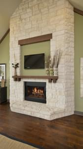 Optional Fireplace - Breckenridge Model in Weatherford Tilson Custom Home Photo