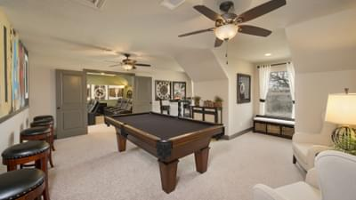 Optional Upstairs Bonus Room - Breckenridge Model in Weatherford Tilson Custom Home Photo