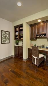 Hallway Desk Area - Breckenridge Model in Weatherford Tilson Custom Home Photo