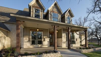 Elevation C Front Porch - Breckenridge Model in Weatherford Tilson Custom Home Photo