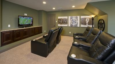 Optional Upstairs Theater Room - Breckenridge Model in Weatherford Tilson Custom Home Photo