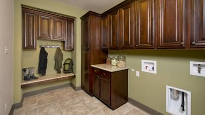 Utility Room - Breckenridge Model in Weatherford Tilson Custom Home Photo