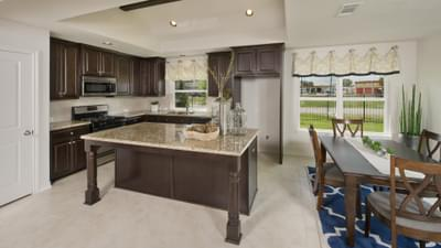 Kitchen and Breakfast Area - Bridgeport Tilson Custom Home Photo
