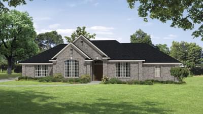Elevation B - The Brisco Tilson Custom Home Photo