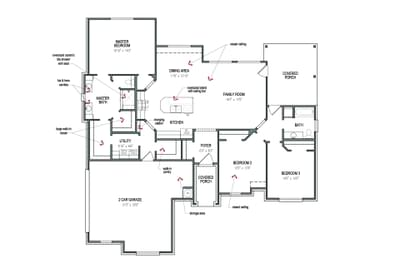 Floorplan - The Colorado Tilson Custom Home Photo