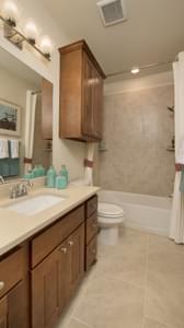 Bath 2 - Crockett Model in McKinney Tilson Custom Home Photo