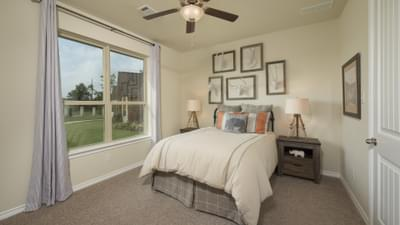 Bedroom 3 - Crockett Model in McKinney Tilson Custom Home Photo