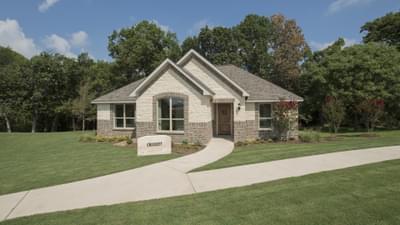 Elevation E - Crockett Model in McKinney Tilson Custom Home Photo