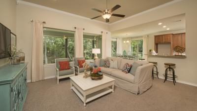 Family Room - Crockett Model in McKinney Tilson Custom Home Photo
