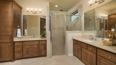 Master Bathroom - Crockett Model in McKinney Tilson Custom Home Photo