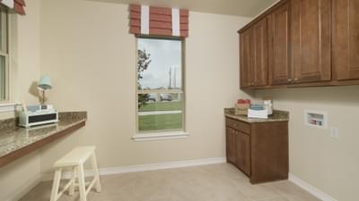 Utility Room - Crockett Model in McKinney Tilson Custom Home Photo