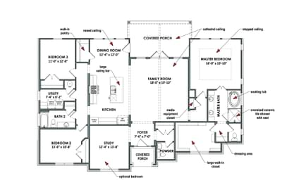 Floorplan - The Cypress Tilson Custom Home Photo