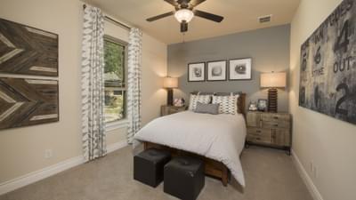 Bedroom 2 - Driftwood Model in Georgetown Design Center Tilson Custom Home Photo