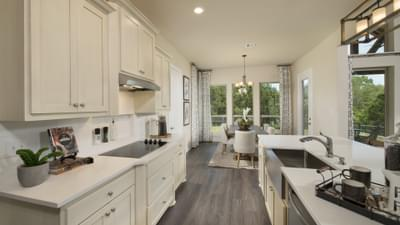 Kitchen - Driftwood Model in Georgetown Design Center Tilson Custom Home Photo